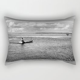 Natural bucolic view in Biebrza wetland Rectangular Pillow
