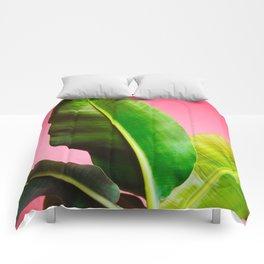 Banana Palm on Pink Comforters