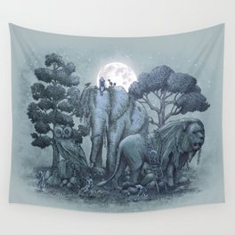 Midnight in the Stone Garden (colour option) Wall Tapestry