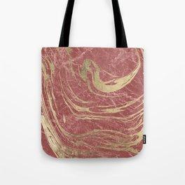 Elegant burgundy faux gold stylish modern marble Tote Bag