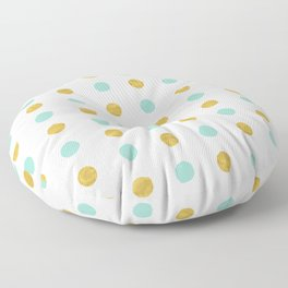 Dalmatian - Sea Foam & Gold Foil #622 Floor Pillow