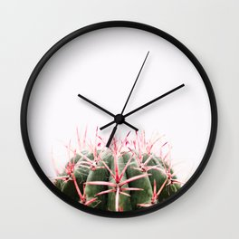 cactus red Wall Clock