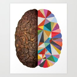 Geometric Right Brain Art Print
