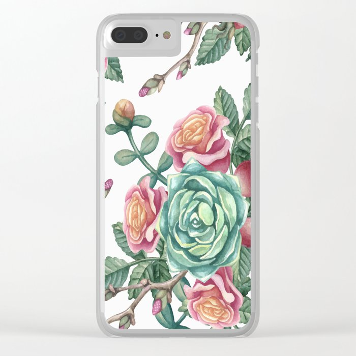 FLOWERS V Clear iPhone Case