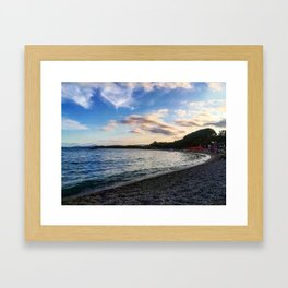 Sardinian beach Framed Art Print