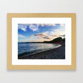 Sardinian beach Framed Art Print