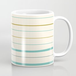 Horizontal stripes pattern - blue on cream Coffee Mug