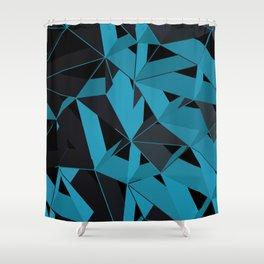 3D Futuristic GEO BG II Shower Curtain