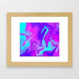 Neon Tye Dye Framed Art Print
