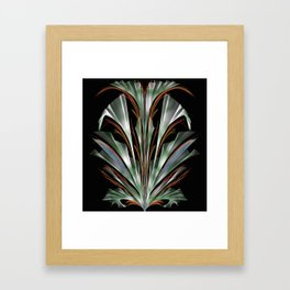 Retro Abstract Floral Design Framed Art Print