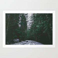 Winter Drive II Art Print