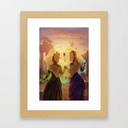 Dare Not Speak Framed Art Print