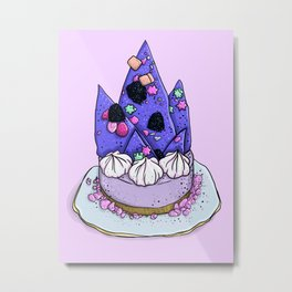 Katherine Sabbath Purple Mountain Cake Metal Print