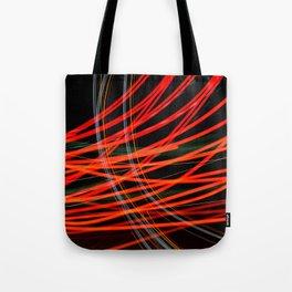 Red Streaks Tote Bag