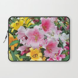 SPRING LILIES FLOWER GARDEN MEDLY Laptop Sleeve