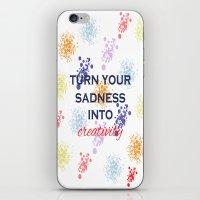 creativity iPhone & iPod Skins featuring Creativity by Roxana C.