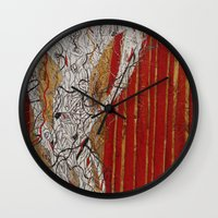 theater Wall Clocks featuring The Theater by Atziri