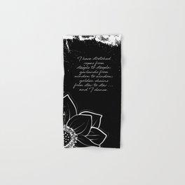 Arthur Rimbaud - I Dance - Phrases Hand & Bath Towel