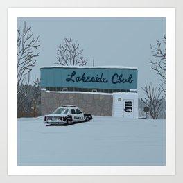 Lakeside Club Art Print
