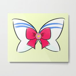 Sailor Moon Sailor Bow Metal Print