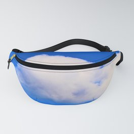 """""""Clouds #57"""" with poem: God's Pillows Fanny Pack"""