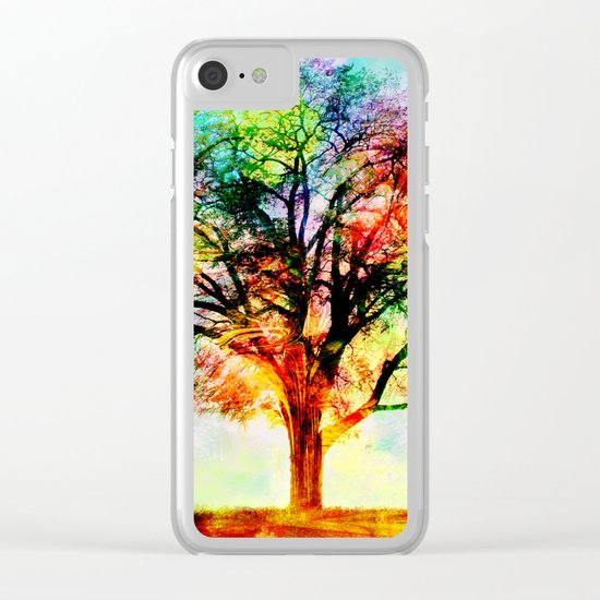 Fall Tree Clear iPhone Case