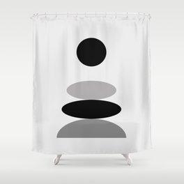 Balanced - Zen Abstract - Peace, Love & Harmony Shower Curtain