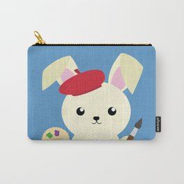 Rabbit Painter Carry-All Pouch