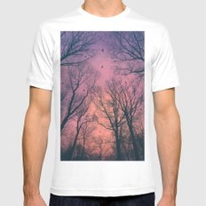 When the Dawn Is Still Dark White MEDIUM Mens Fitted Tee