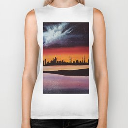Abu Dhabi, watercolor Biker Tank
