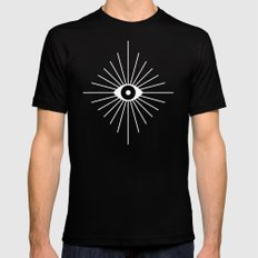 KALEIDOSCOPE EYES Mens Fitted Tee SMALL Black