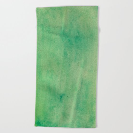 MINT GREEN WATERCOLOR BACKGROUND.  Beach Towel