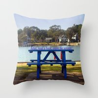 relax Throw Pillows featuring Relax! by Chris' Landscape Images & Designs