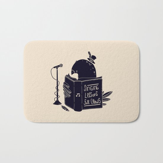 Singing Lessons For Crows Bath Mat