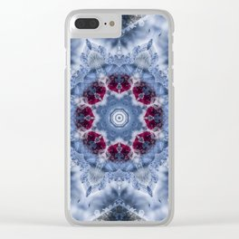 Ice Fractal Clear iPhone Case