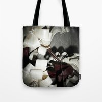 valentine Tote Bags featuring Valentine by Françoise Reina