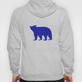 Bear Silhouette with Autumn-Colored Sprinkles Hoody