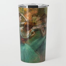 Dancers, Pink and Green by Edgar Degas, 1890 Travel Mug
