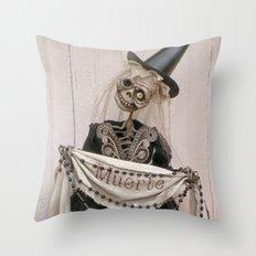 Rucus Studio Muerte - Dia de los Muertos Throw Pillow
