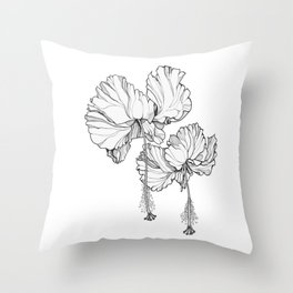 Hibiscus in Bloom Throw Pillow