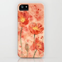 beauTEAful blooms: Poppies iPhone Case
