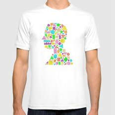 Mosaic Silhouette Mens Fitted Tee White MEDIUM