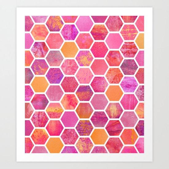 Flowers & Honey Art Print