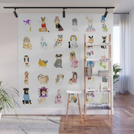 30 Dogs Wall Mural