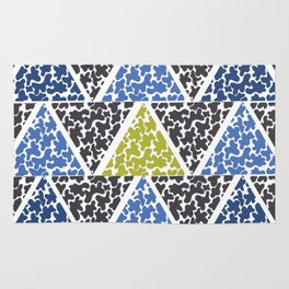 ink triangles Rug