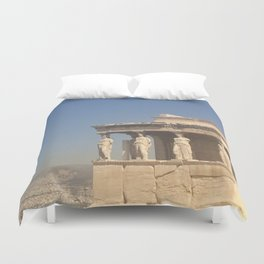 Acropolis of Athens Duvet Cover