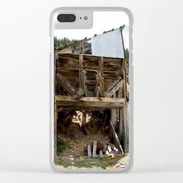 Exploring the Longfellow Mine of the Gold Rush - A Series, No. 9 of 9 Clear iPhone Case
