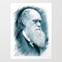 darwin Art Prints featuring Charles Darwin by Zandonai