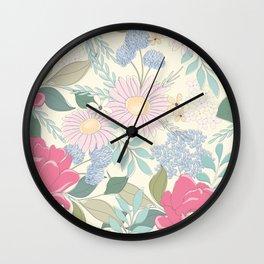 Lulu Floral Wall Clock