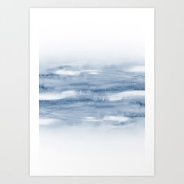 Watercolour Abstract Clouds Art Print